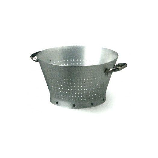 Conical aluminium colander