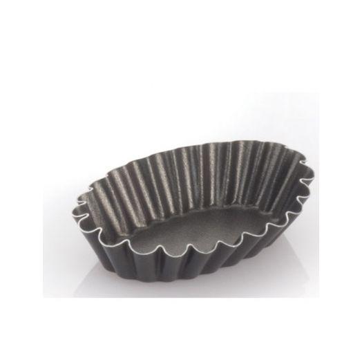 Oval tart tin 7cm for bocconotti - 6 pack