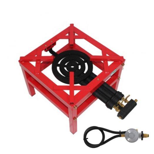 High Pressure 3 Ring Burner Red