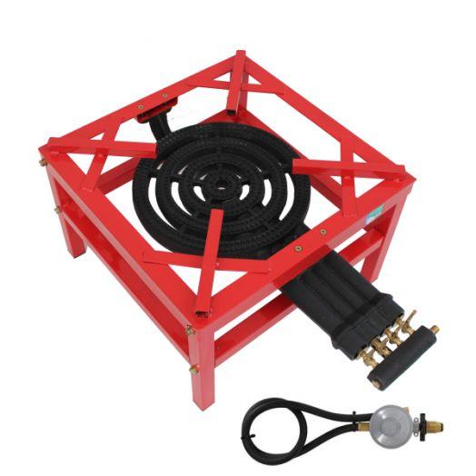 High Pressure 4 Ring Burner Red