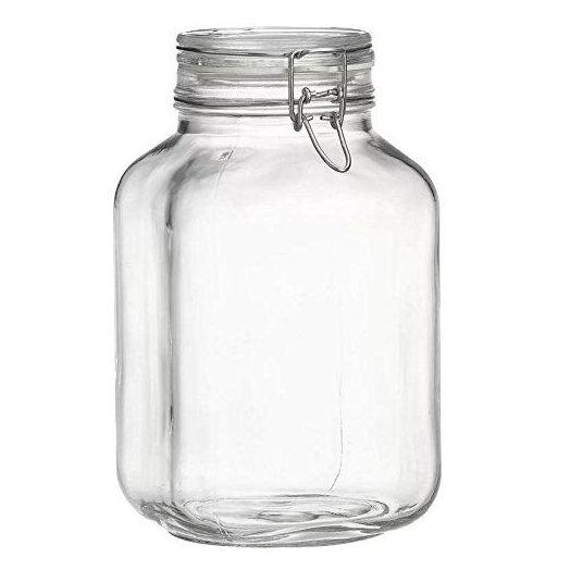 Flip top glass jar 3.1L