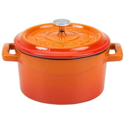 Pentole Agnelli Enamelled Cast Iron Pot 32cm - Orange