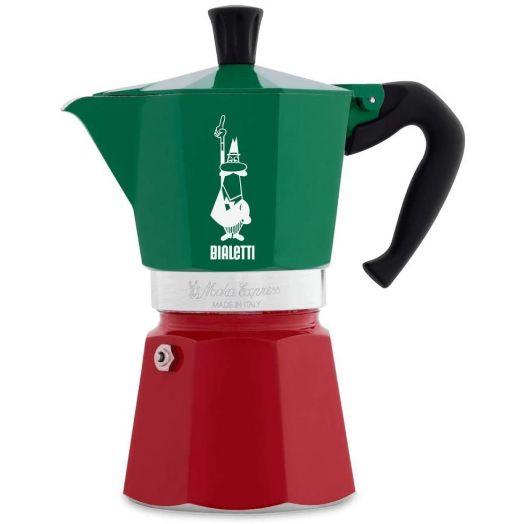 Bialetti Moka Express Tricolor Italia - 6 cups