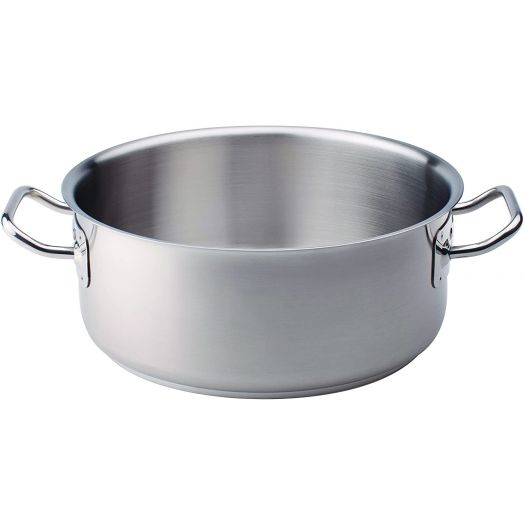Agnelli Stainless Steel Pot - Low Casseruola 24cm