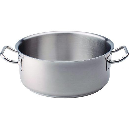 Agnelli Stainless Steel Pot - Low Casseruola 28cm