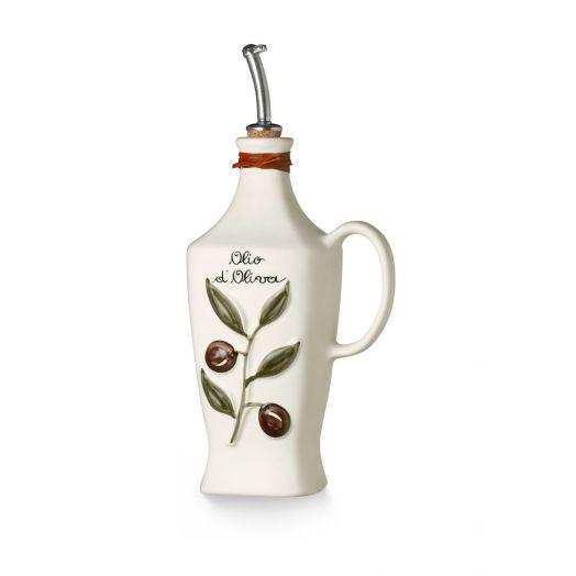 NUOVACER Ceramic Olive Oil bottle 750ml -  Matte White