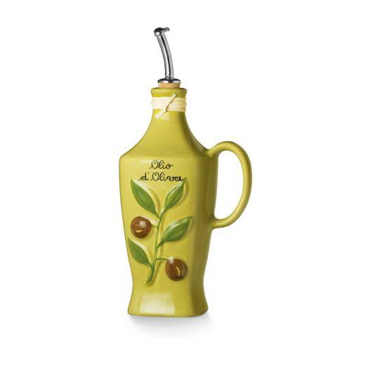 NUOVACER Ceramic Olive Oil bottle 750ml -  Matte 'Olive'