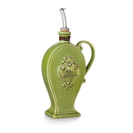 NUOVACER Ceramic Olive Oil bottle 750ml -  Green