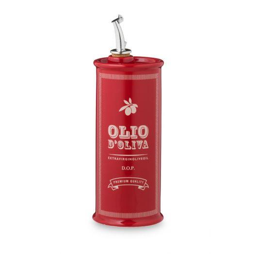 NUOVACER Ceramic Oil Pourer Round 500ml - Vintage Red