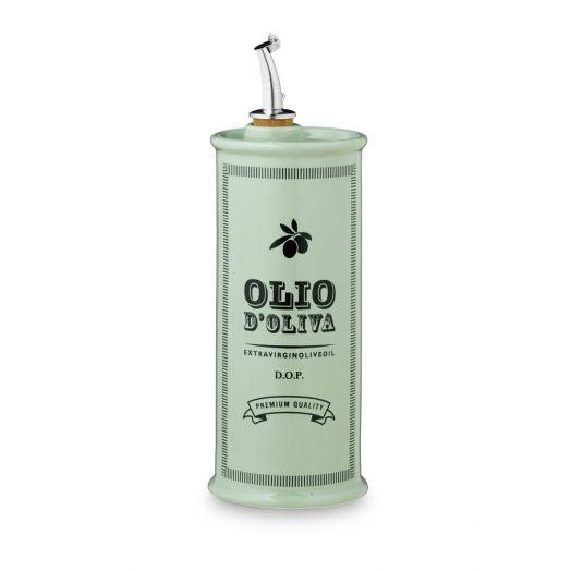 NUOVACER Ceramic Oil Pourer Round 500ml - Vintage Green