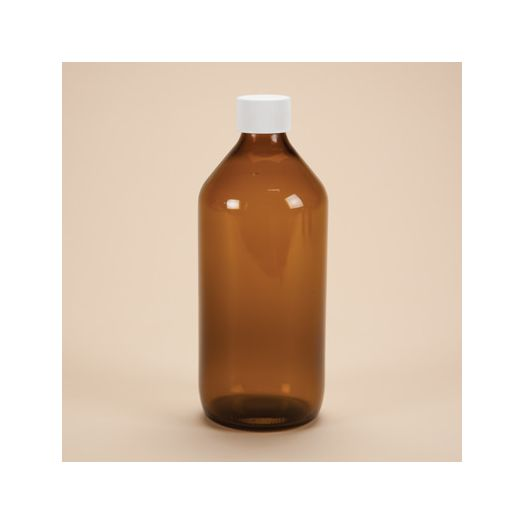 Amber  bottle with lid