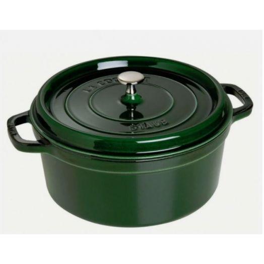 Staub Round Cocotte 28cm/6.7L - Basil Green