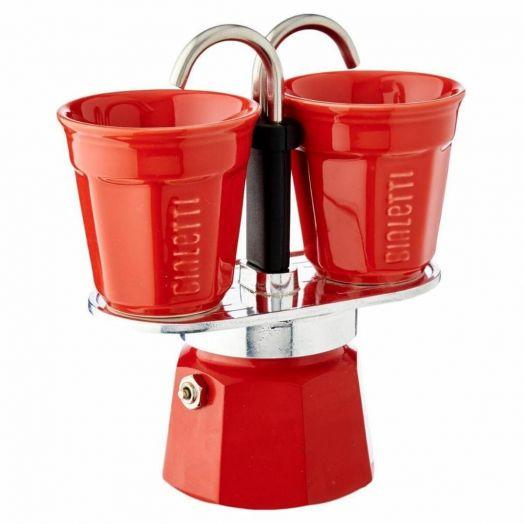 BIALETTI MINI EXPRESS SET 2 CUP - Red