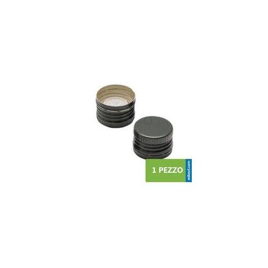 BLACK Aluminium olive oil cap with pourer x100