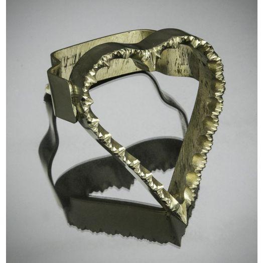 Sardinian Brass Cutter - Heart