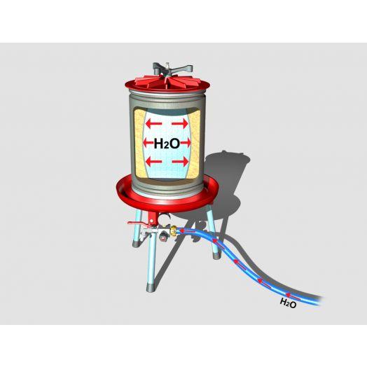 Water bag press