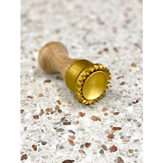 Brass Ravioli Round Stamp 5cm