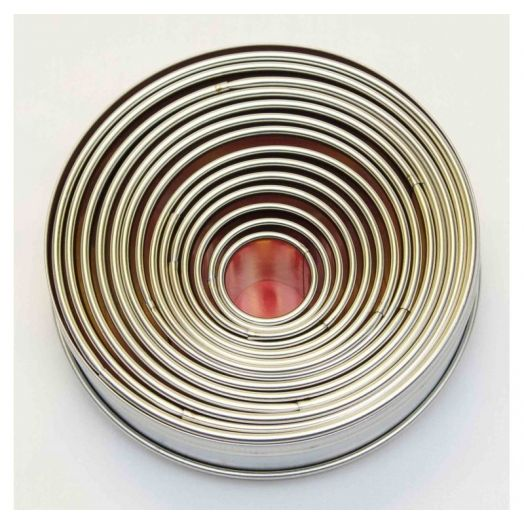 LOYAL - STAINLESS STEEL ROUND CUTTER SET - 14 PIECE