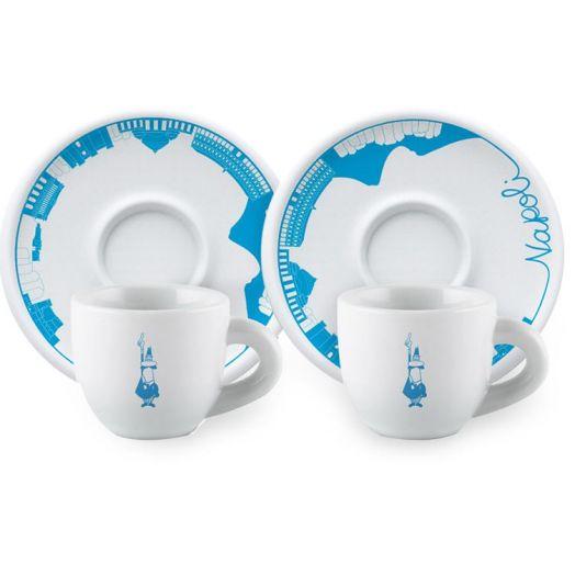 Bialetti Tazzine Cups & Saucers 2 Set (Napoli)