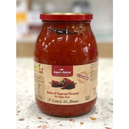 Hot Capsicum Salsa 1L - Italian Made