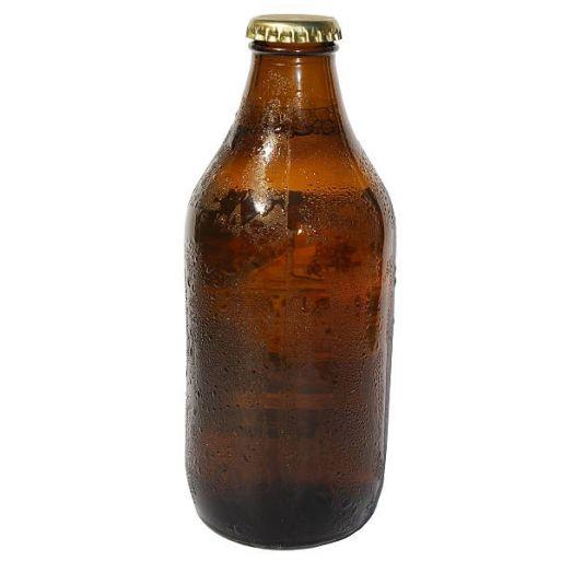 30 x Stubby Beer Bottle Amber 330ml