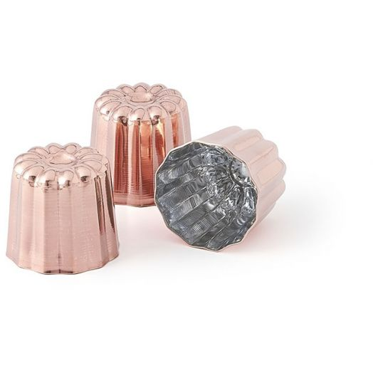 Copper Canneles / Canele Mold ø55mm - 3 pack