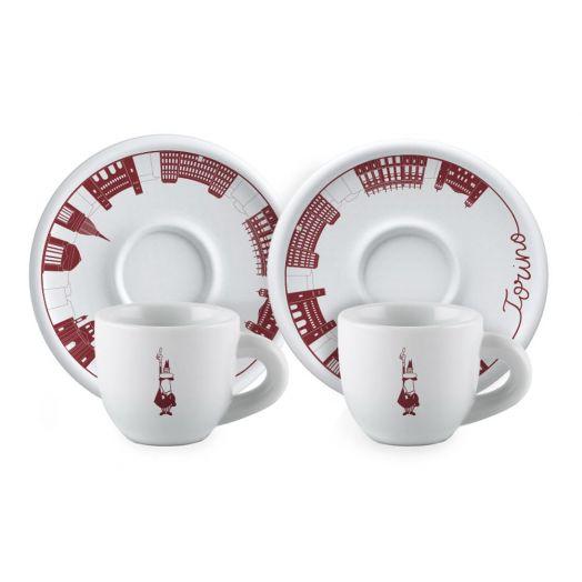 Bialetti Tazzine Cups & Saucers 2 Set (Torino)
